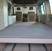 Custom VW California T5 Folding Mattress Topper - Grey